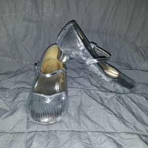 Girls Silver Dress Shoes